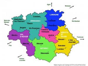 carte touristique Gers