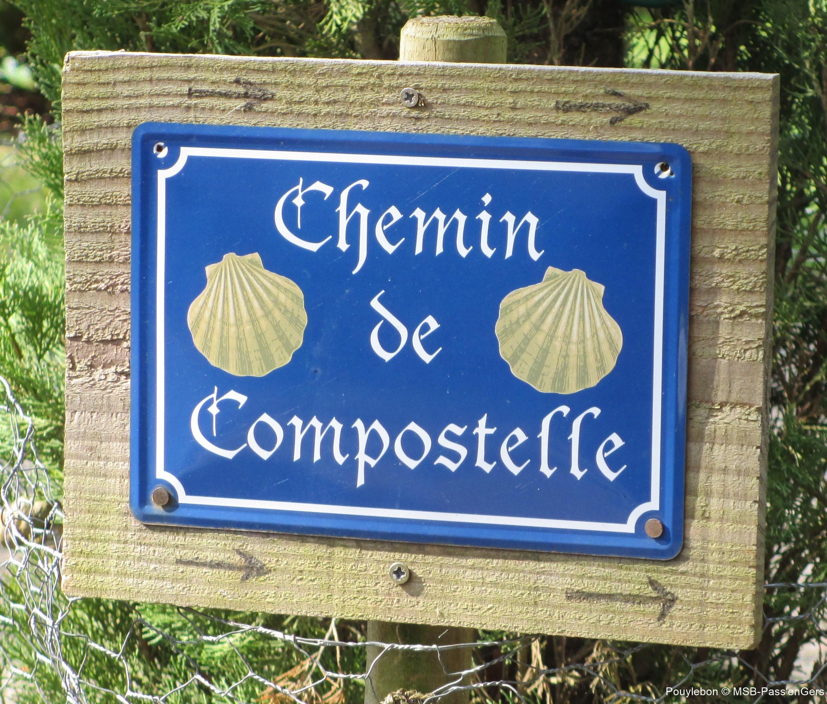plaque Chemin de Compostelle