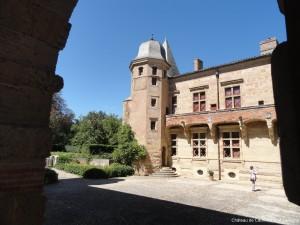 visite guidée chateau Caumont Gers Renaissance