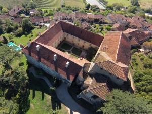 monastère Saint-Mont vue aérienne Gers