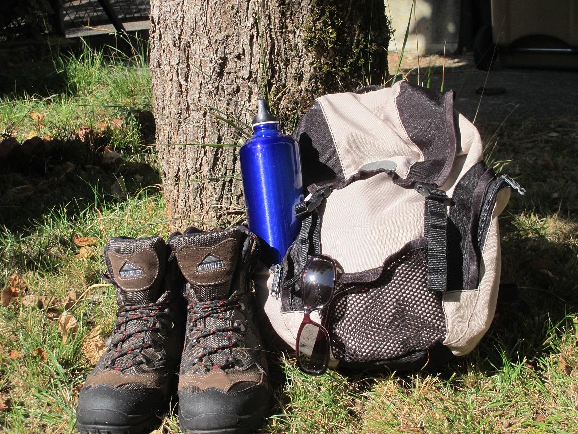 équipement du randonneur : sac, chaussures, gourde
