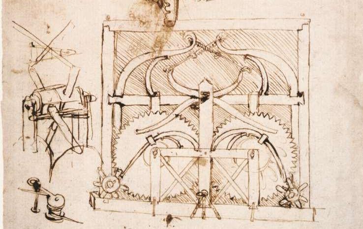 dessin automobile Léonard de Vinci